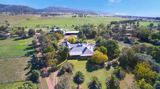 Scenic rural properties surround Scone township
